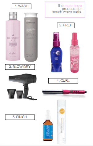 The MUST have products for Beach Wave Curls