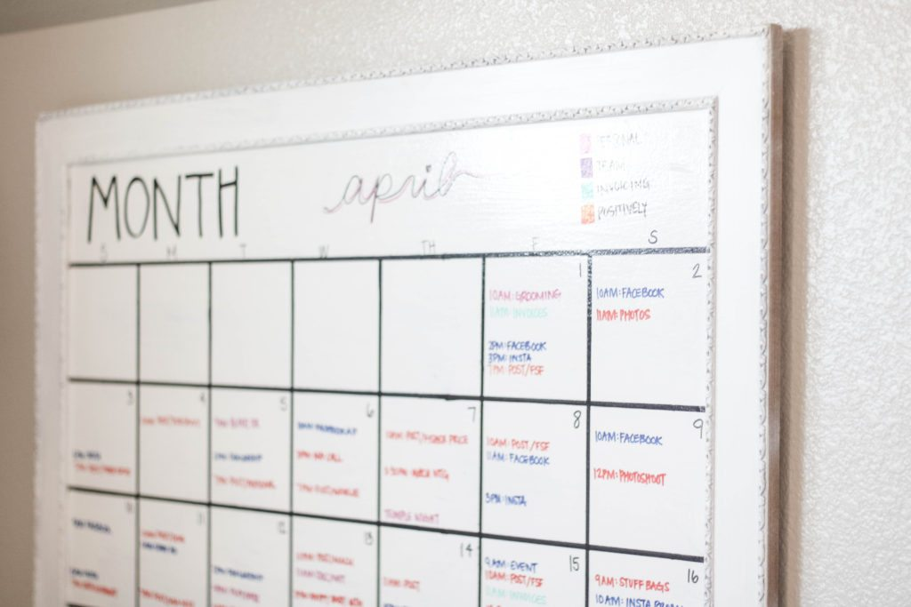 Diy Giant Calendar Positively Oakes