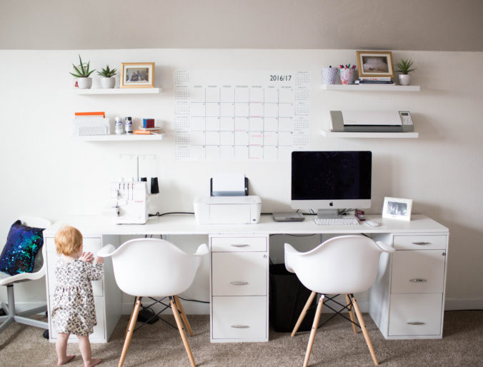 Home: Modern Office Playroom Combo