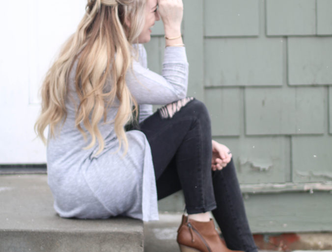 Style // 5 Minute Hair, Casual Cardigans + Skinnies