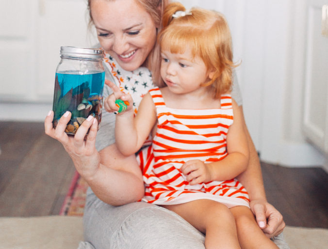 true value mason jar diy aquarium toddler craft