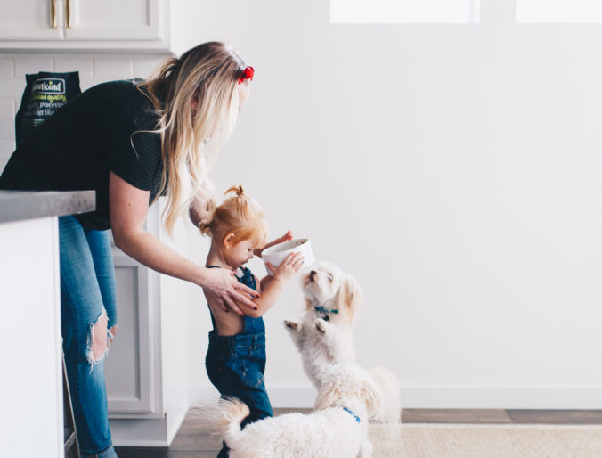 best food for our dogs / letting littles help around the house / how to include kids in house work/ chores