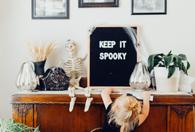 Gothic revival DIY easy inexpensive halloween decorations for a table, home and porch