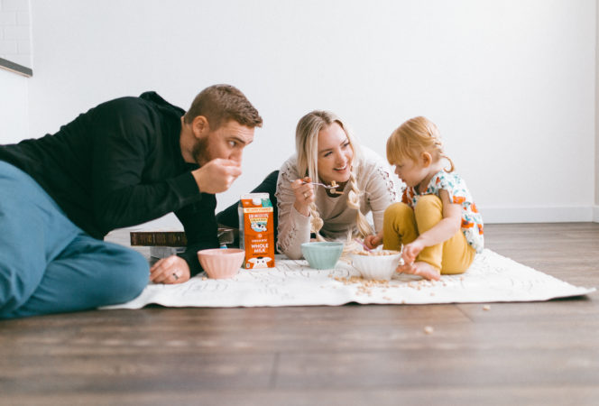 horizon organic / family time / what's important / family activities inside / family cereal for dinner / family fun