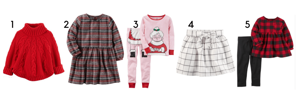 Carter's holiday outfits / holiday outfits and PJ inspiration for toddlers
