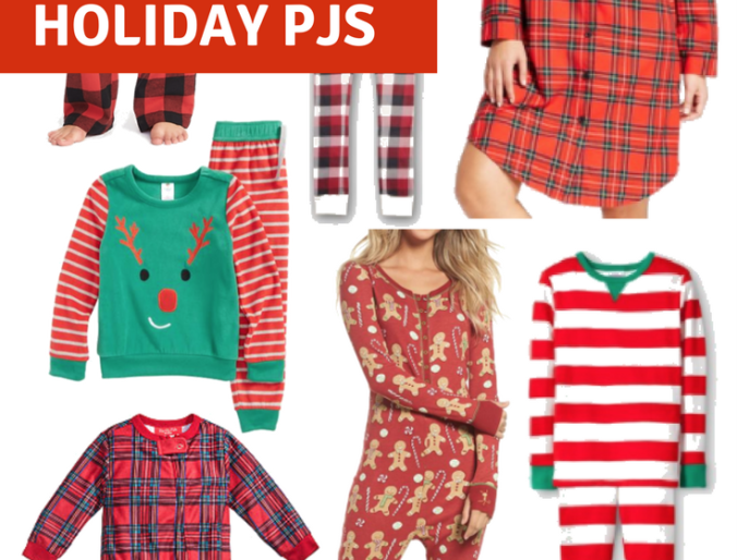 best family and kids christmas PJs for the holidays and family pictures