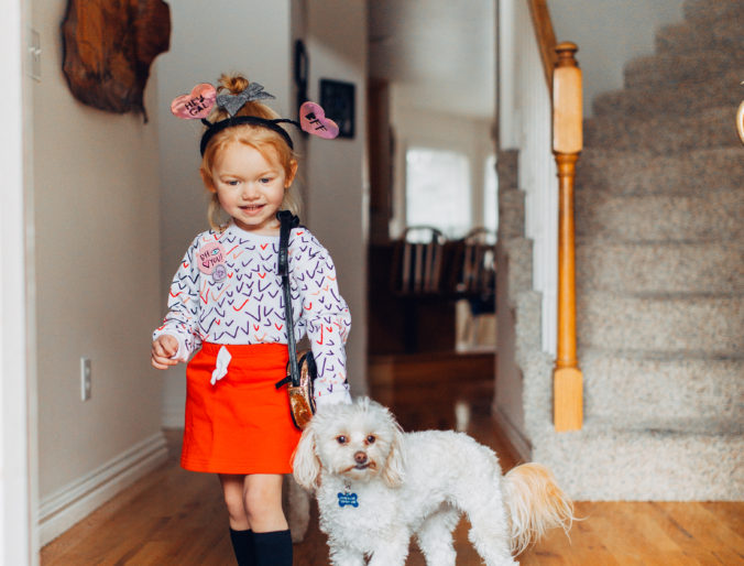 valentine's day outfits for little ones / jess oakes positively oakes