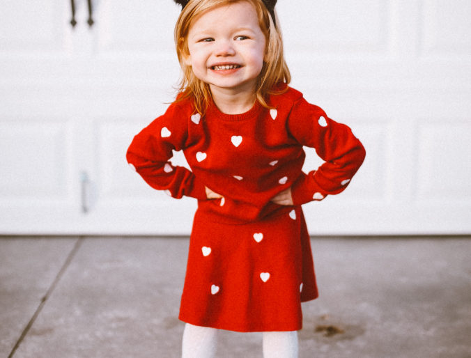 valentines day outfit for a toddler and girl