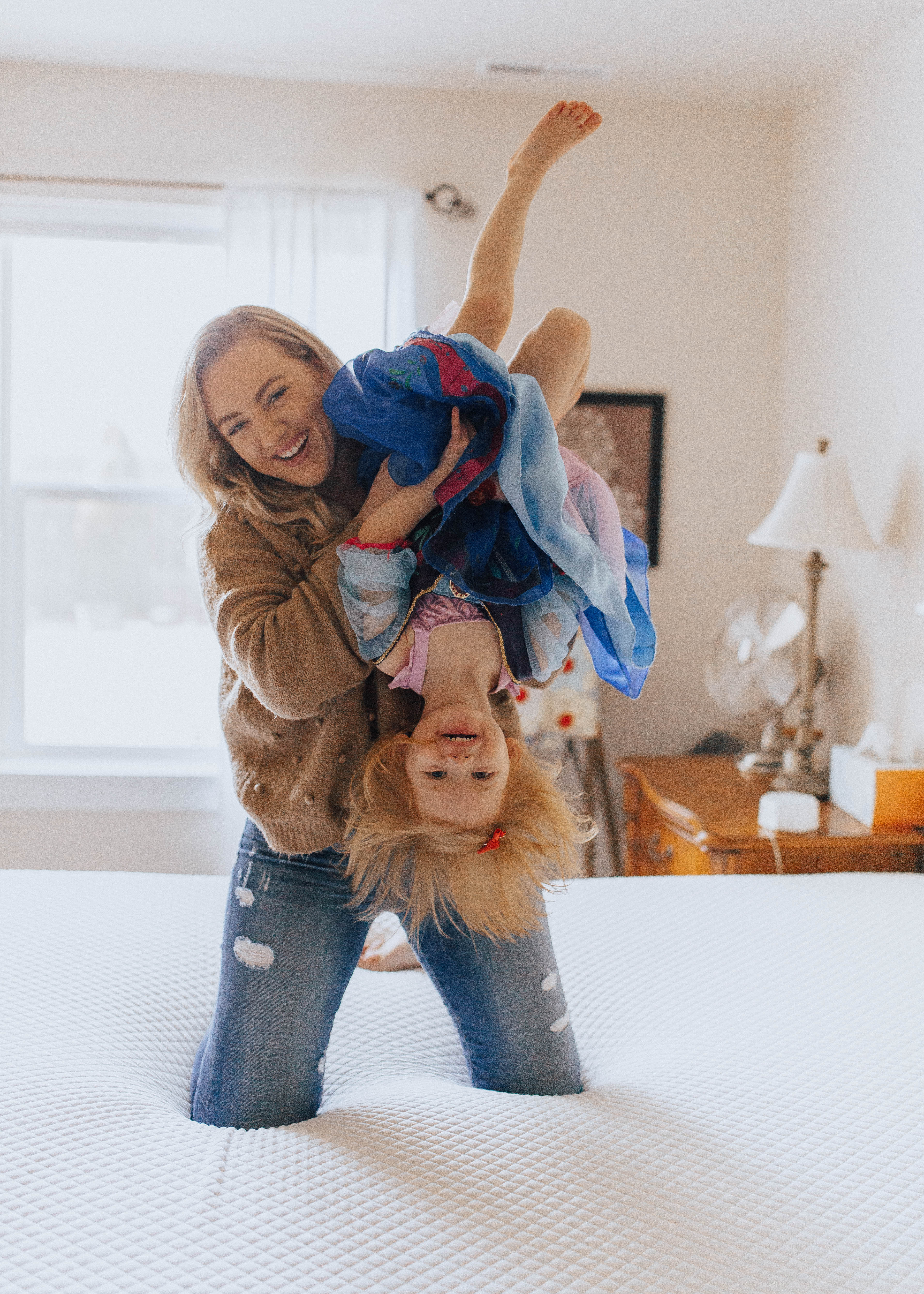 motherhood mommy and daughter / mattress firm positively oakes jess oakes