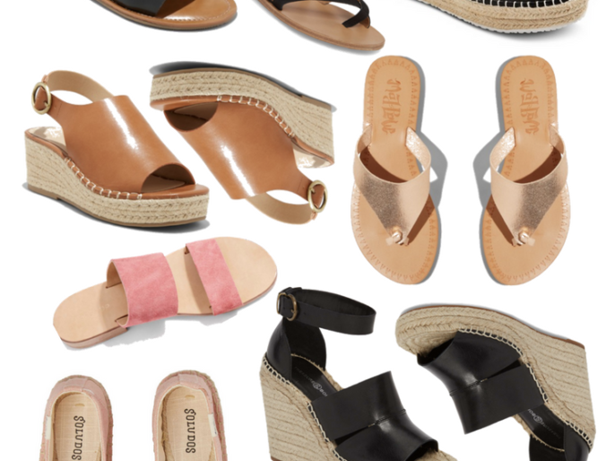 favorite spring time shoes sandals and wedges on a budget for women
