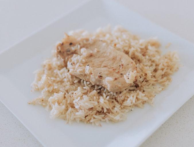 easy, quick dinner porkchops recipe for crockpot, dutch oven or insta pot