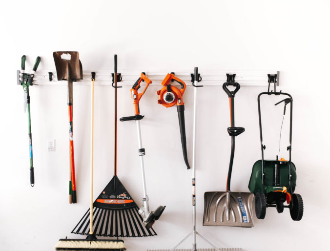 seriously DIY garage organization for totes and store, hanging things and keeping organized