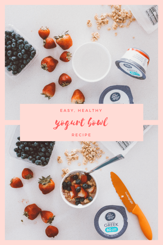 easy meal and menu planning for the week including snacks with yogurt and healthy eating in mind