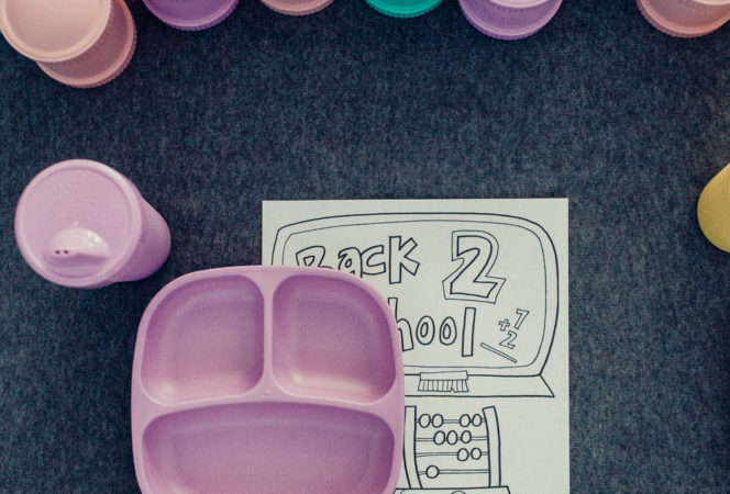 toddler back to school party with re-play recycled / fun back to school at home waffle party / waffle bar