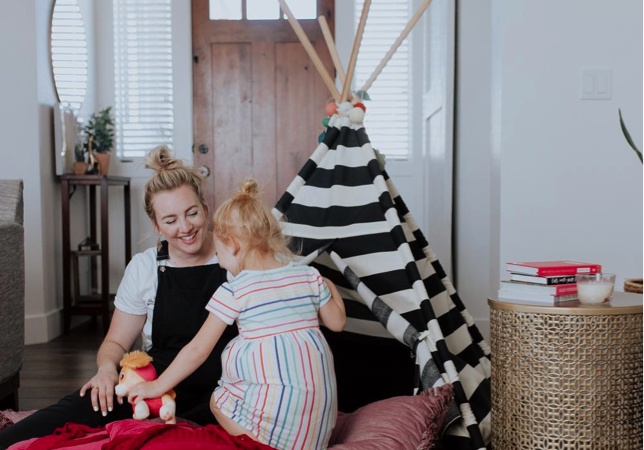 AD A fun indoor activity for the summer time or a rainy day. Building a fort or teepee with your little ones, and having Glade® PlugIns® Scented Oil Warmers and the Glade® 3-Wick Candles make it all that much better.