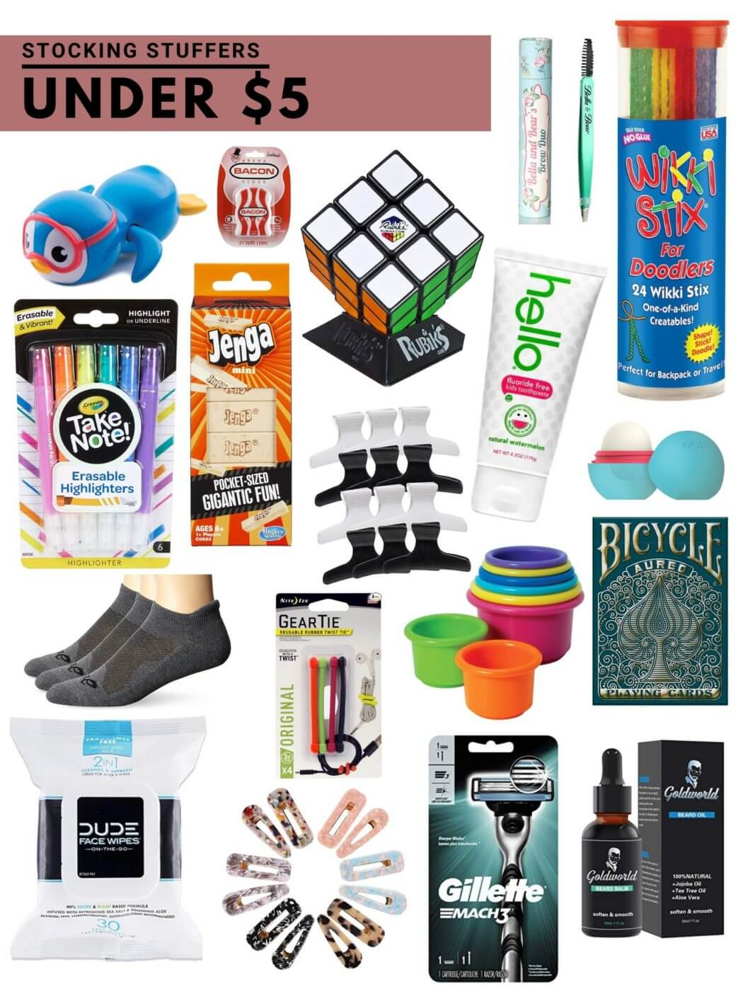 stocking stuffers under five dollars / easy stocking stuffer ideas for the whole family