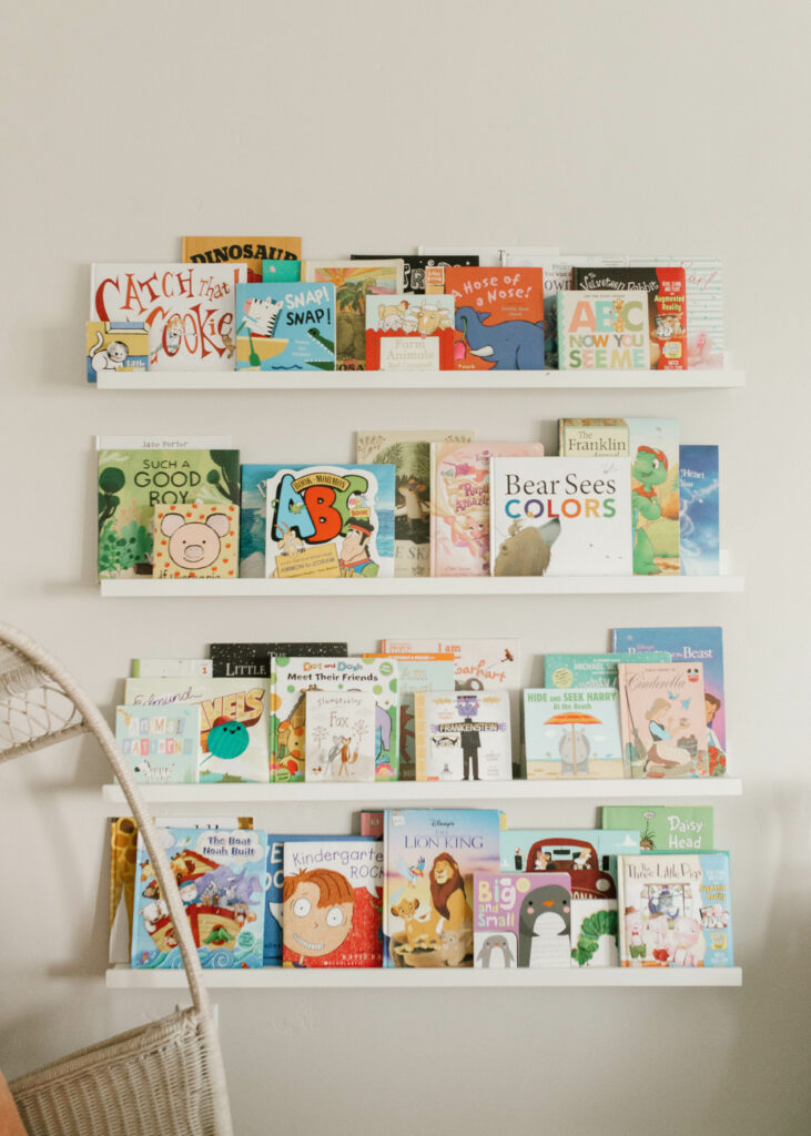 reading nook area / playroom that is bohemian with a modern farmhouse feel and organization but functional/ organize toys with the ikea trofast system / ultimate affordable play room