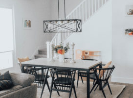 Boho Inspired Modern Dining Room
